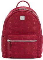 MCM logo printed backpack - unisex - Leather/Metal (Other)/Polyester - One Size