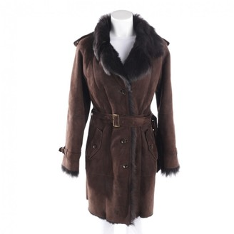 Ventcouvert Brown Suede Coat for Women