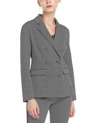 APART Fashion Women's Houndstooth Blazer