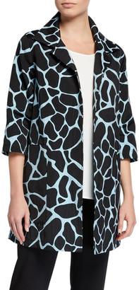 Caroline Rose Plus Size Fresh And Flirty Jacquard Unlined Topper Jacket