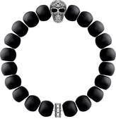 Thomas Sabo Rebel at Heart skull obsidian beaded bracelet