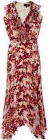 Saloni Rita Ruffled Printed Silk Dress