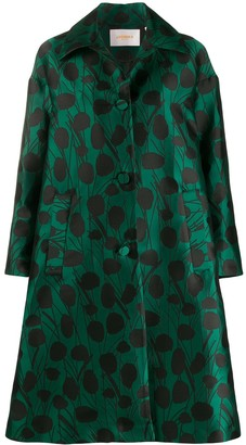 La DoubleJ x Mantero Moses Verde satin boxy coat