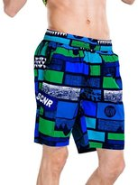YOUJIA Men's Print Swim Shorts Summer Holiday Beachwear Board Shorts (/2XL)