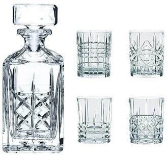 Nachtmann 5-Piece Crystal Highland Whisky Decanter & Tumbler Set 750ml/345ml