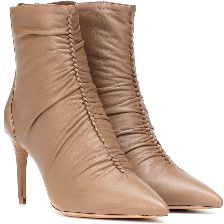 Alexandre Birman Susanna 85 leather ankle boots