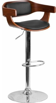 George Oliver Crotty Low Back Adjustable Height Swivel Bar Stool