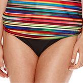 A.N.A a.n.a Mix & Match Ombre Striped Twist Swim Tankini Top