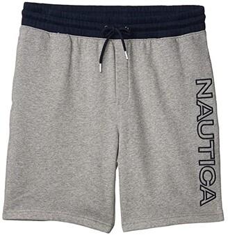 Nautica Logo Knit Shorts (Black) Men's Clothing