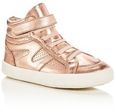 Old Soles Girls' Star Jumper Metallic High Top Sneakers - Toddler, Little Kid