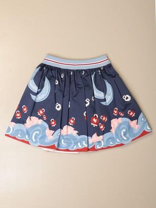 Simonetta Wide Printed Skirt