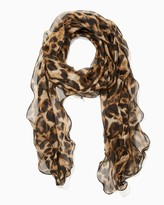 Charming charlie Ruffled Leopard Scarf