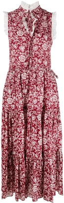 See by Chloe Floral-Print Midi Dress