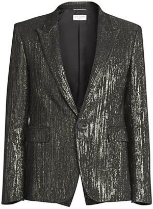 Saint Laurent Metallic Suit Jacket