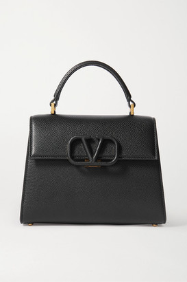 Valentino Garavani Vsling Small Textured-leather Shoulder Bag - Black