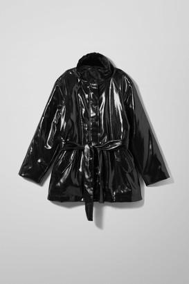 Weekday Rhian Patent Jacket - Black