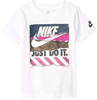 Nike Kids Short Sleeve Shoebox Graphic T-Shirt (Little Kids) (White) Boy's Clothing