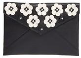 Rebecca Minkoff Leo Floral Applique Envelope Clutch - Black