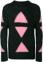 Fendi Embroidered mohair blend sweater - men - Polyamide/Mohair/Wool - 48