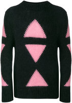 Fendi Embroidered mohair blend sweater