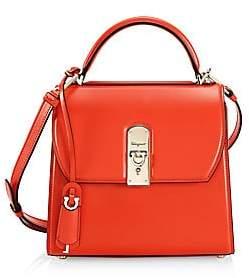Salvatore Ferragamo Women's Medium Boxyz Leather Top Handle Bag