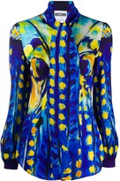 Moschino painted print blouse