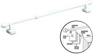 Overstock Magnetic Expandable Universal Curtain Rod - Works On Metal Or Wooden Frames!