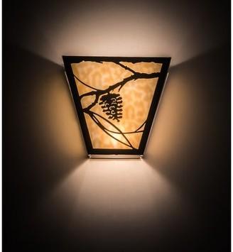 2-Light Whispering Pines Wall Sconce Meyda Tiffany