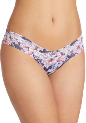 Hanky Panky Floral Breeze Low-Rise Signature Lace Thong
