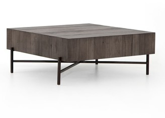"""Pottery Barn Fargo 41"""" Square Reclaimed Wood Coffee Table"""