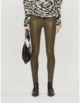 Frame Le High Skinny leather trousers