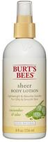 Burt's Bees Sheer Body Lotion Cucumber & Aloe