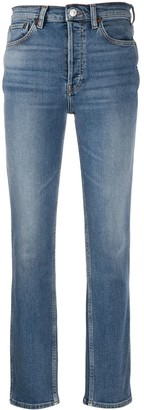 RE/DONE High-Waisted Straight Jeans