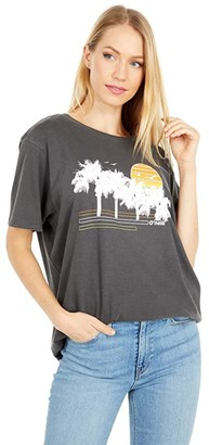 O'Neill Throwback Tee (Washed Black) Women's T Shirt