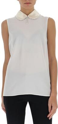 Miu Miu Embellished Collar Sleeveless Top