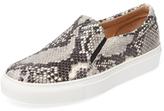 Embossed Leather Slip-On Sneaker
