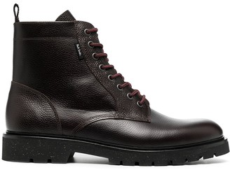 Paul Smith Textured Lace-Up Boots
