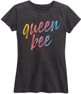 Instant Message Women's Women's Tee Shirts HEATHER - Heather Charcoal Rainbow 'Queen Bee' Relaxed-Fit Tee - Women & Plus