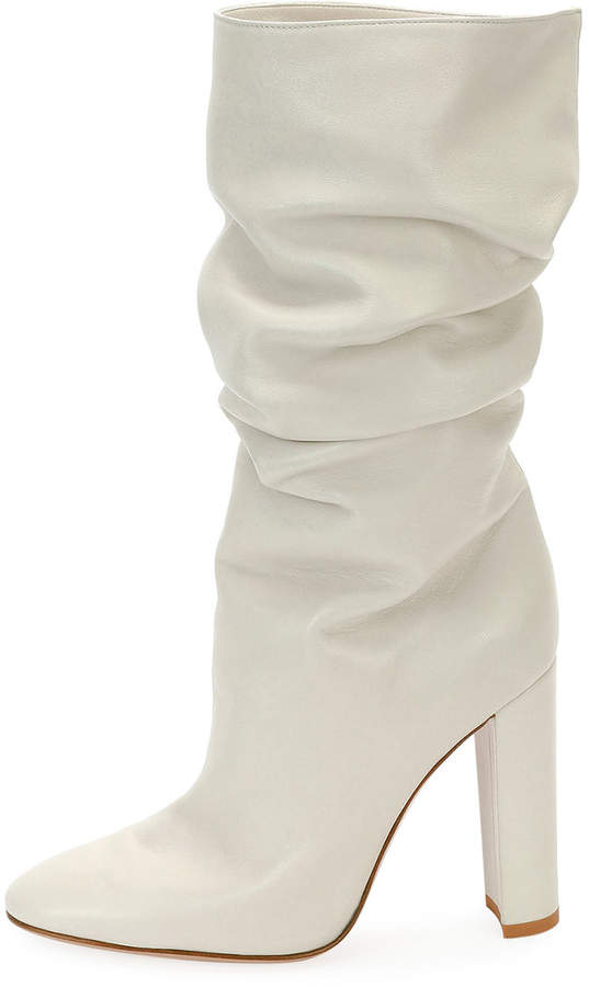 Gianvito Rossi Laura Slouchy Leather Knee Boot