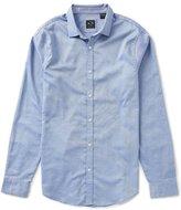Armani Exchange Chambray Solid Long-Sleeve Woven Shirt