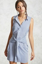 Forever 21 FOREVER 21+ Self-Tie Shirt Dress