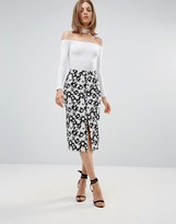 Glamorous Floral Pencil Skirt