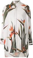 OSKLEN Strelitza print oversized shirt