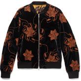 Dries Van Noten Reversible Embroidered Velvet And Printed Satin Bomber Jacket