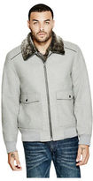 GUESS Men's Corbett Wool-Blend Bomber Jacket