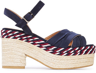 Castaner Xiqui Suede And Satin Espadrille Platform Sandals