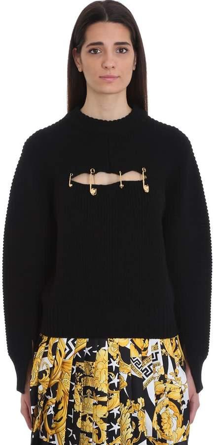 Versace Black Wool Sweater