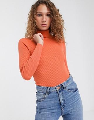 Brave Soul trudy high neck jumper-Orange