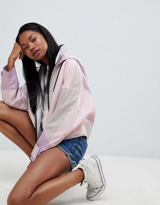 Asos Design DESIGN color block anorak jacket-Pink