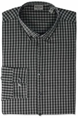 Kenneth Cole Reaction Men's Dress Shirt Slim Fit All-Day Flex Technicole Stretch Check